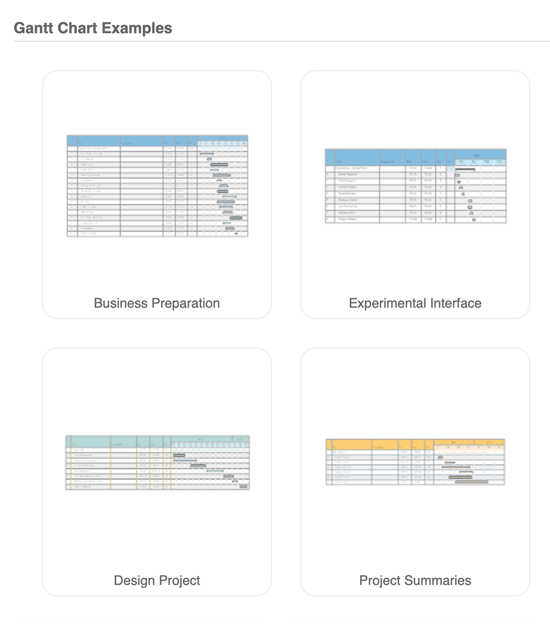 Project planning templates