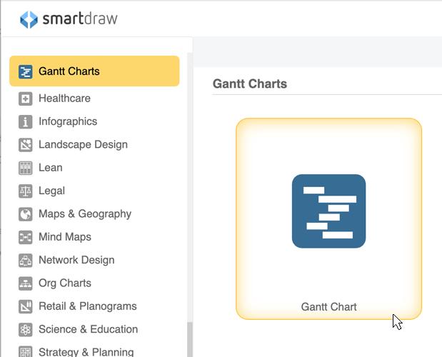 Gantt chart templates