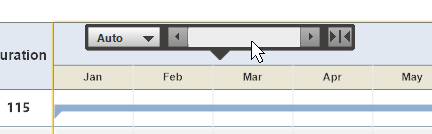 Floating gantt chart tool bar