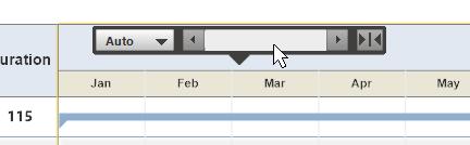 Floating gantt chart tool bar
