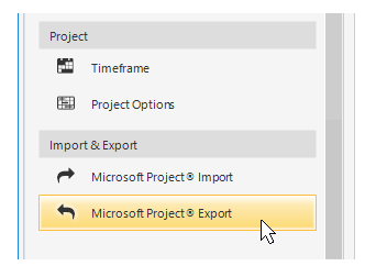 Export to MS Project