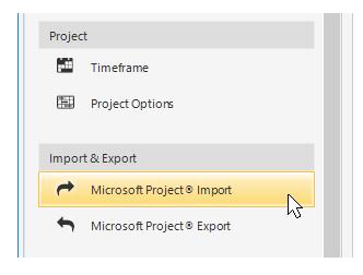 Microsoft Project integration