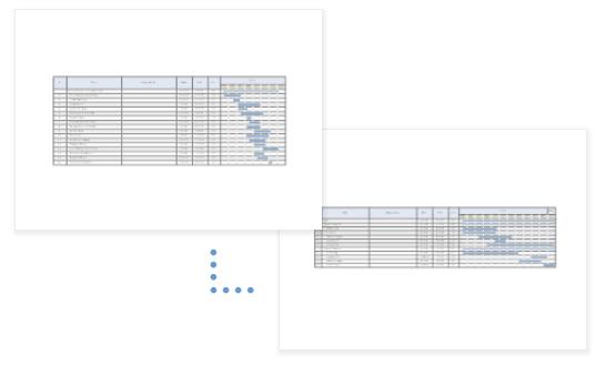 Multiple gantt charts