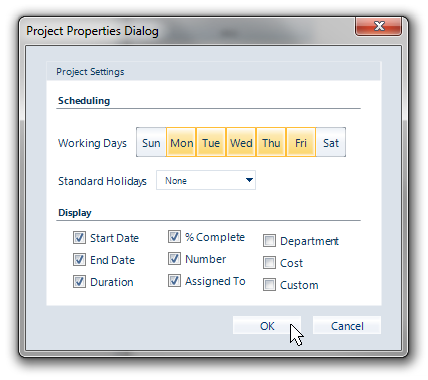 Project options