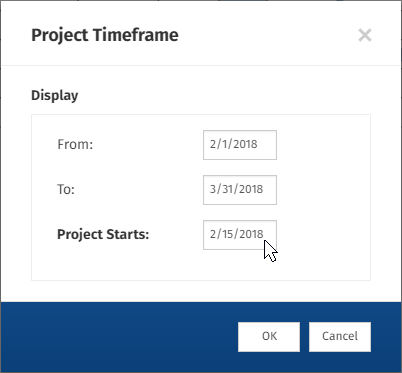 How to create a gantt chart with smartdraw project management adjust the timeframe of your gantt chart ccuart Images