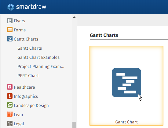 How to create a gantt chart with smartdraw project management gantt chart template ccuart Images