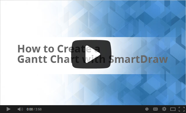 How To Create A Gantt Chart With Smartdraw Project Management