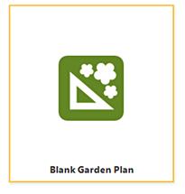 Blank garden plan templates