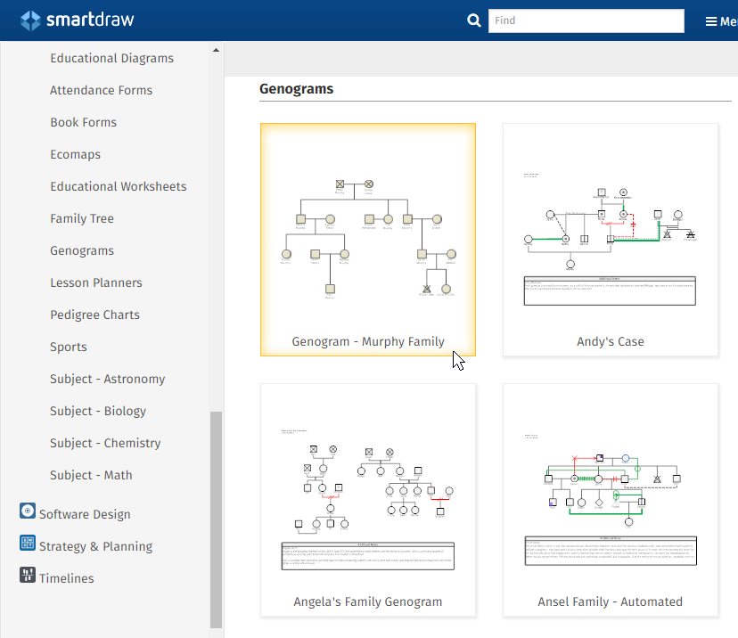 Genogram Software - Free Templates | Try SmartDraw
