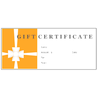 examples of gift certificates  Gift Certificate Examples