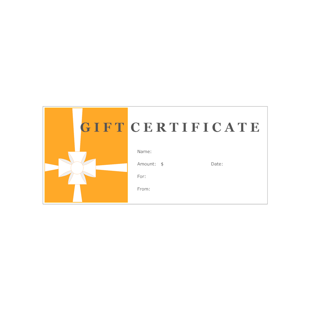 Example Image: Gift Certificate Template 2