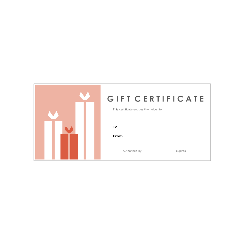 Example Image: Gift Certificate Template 3