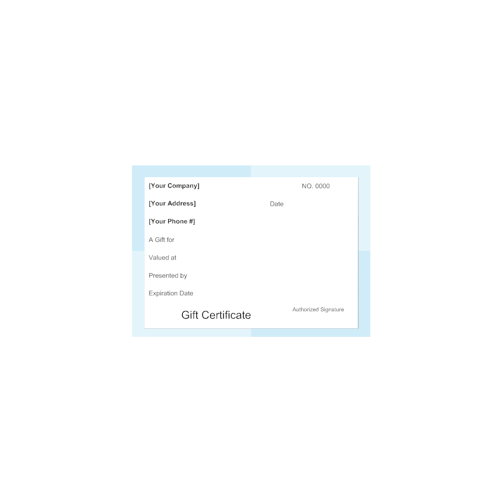 Example Image: Gift Certificate Template 4