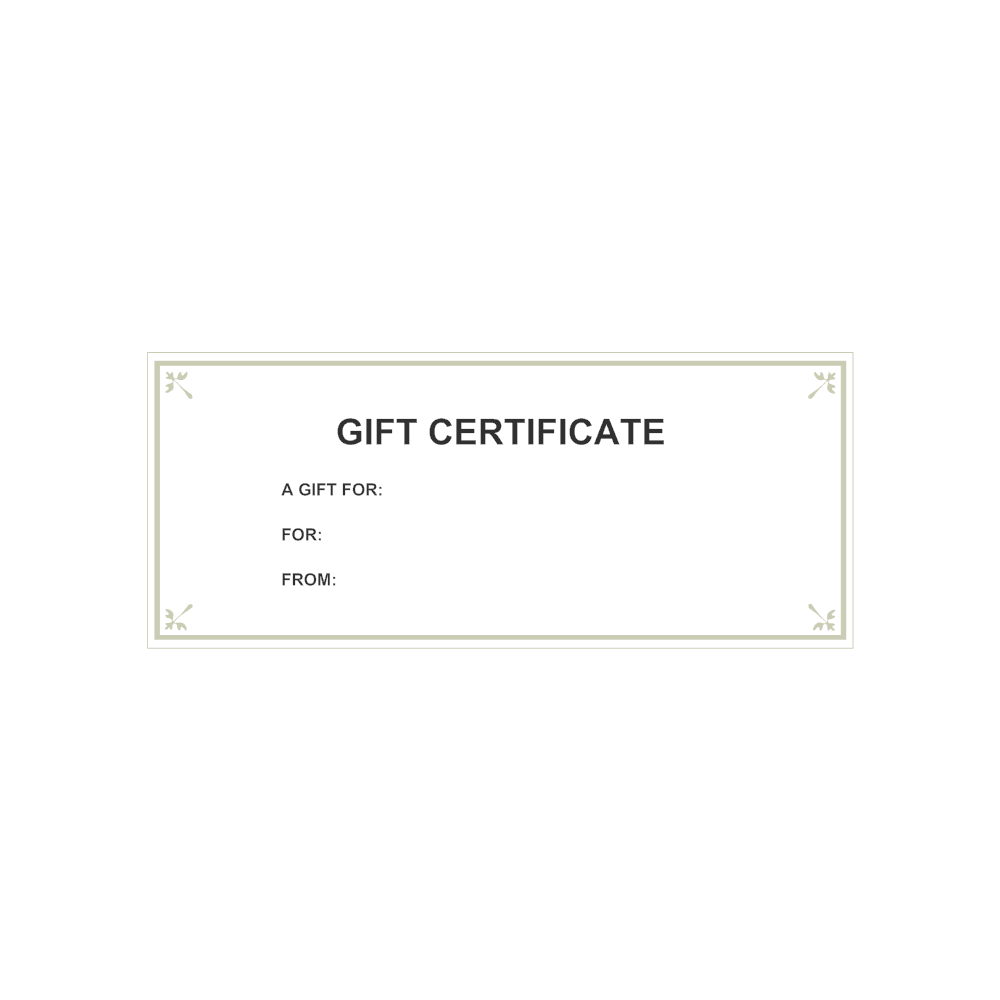 Example Image: Gift Certificate Template 6