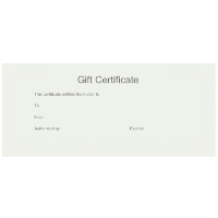 Gift Certificate Template 8