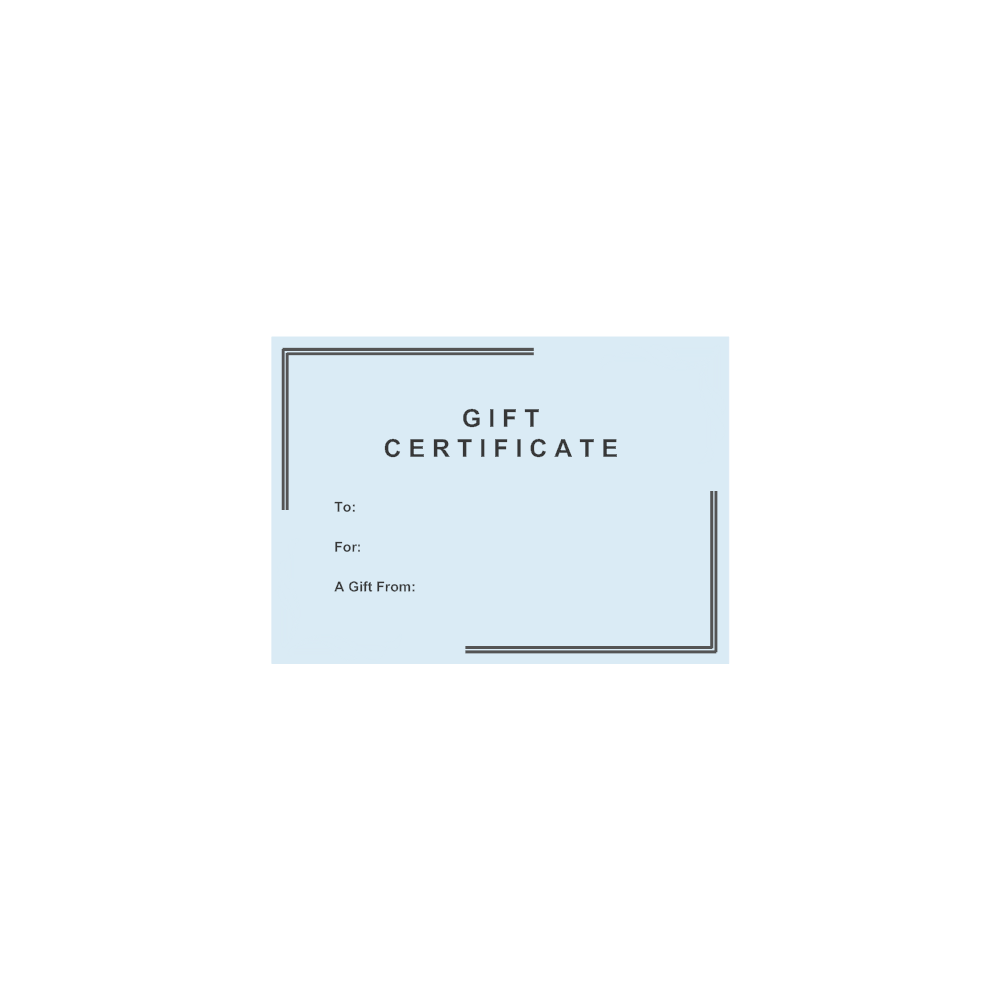 Example Image: Gift Certificate Template