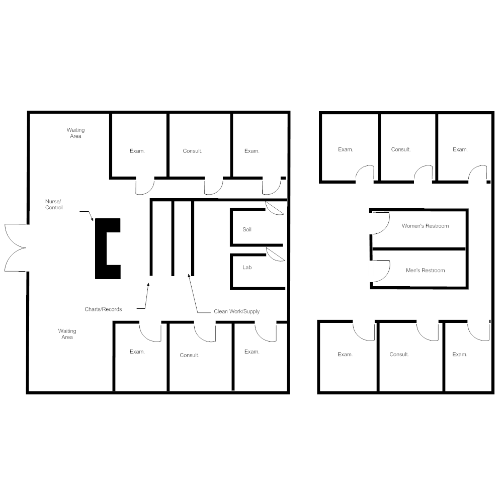 Example Image: Healthcare Facility Plan - Clinic