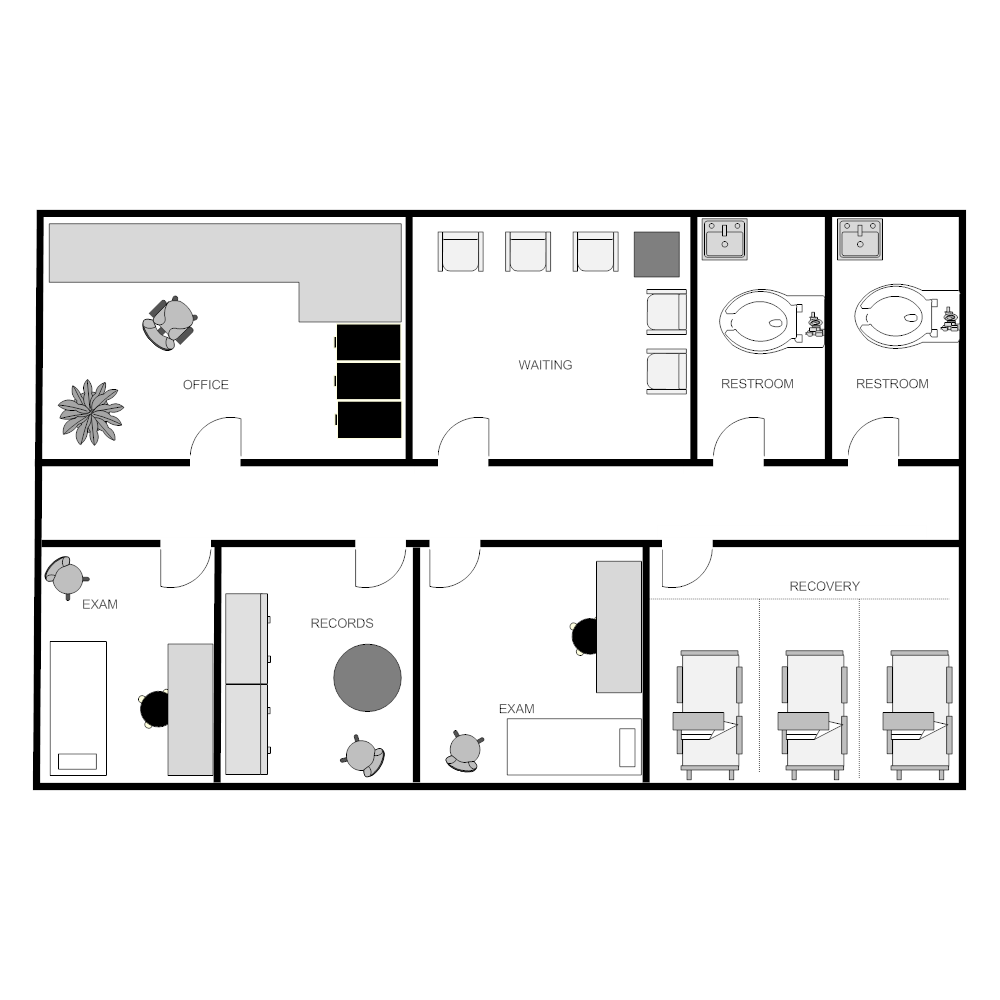 outpatient clinic facility plan Clinic Room Layout