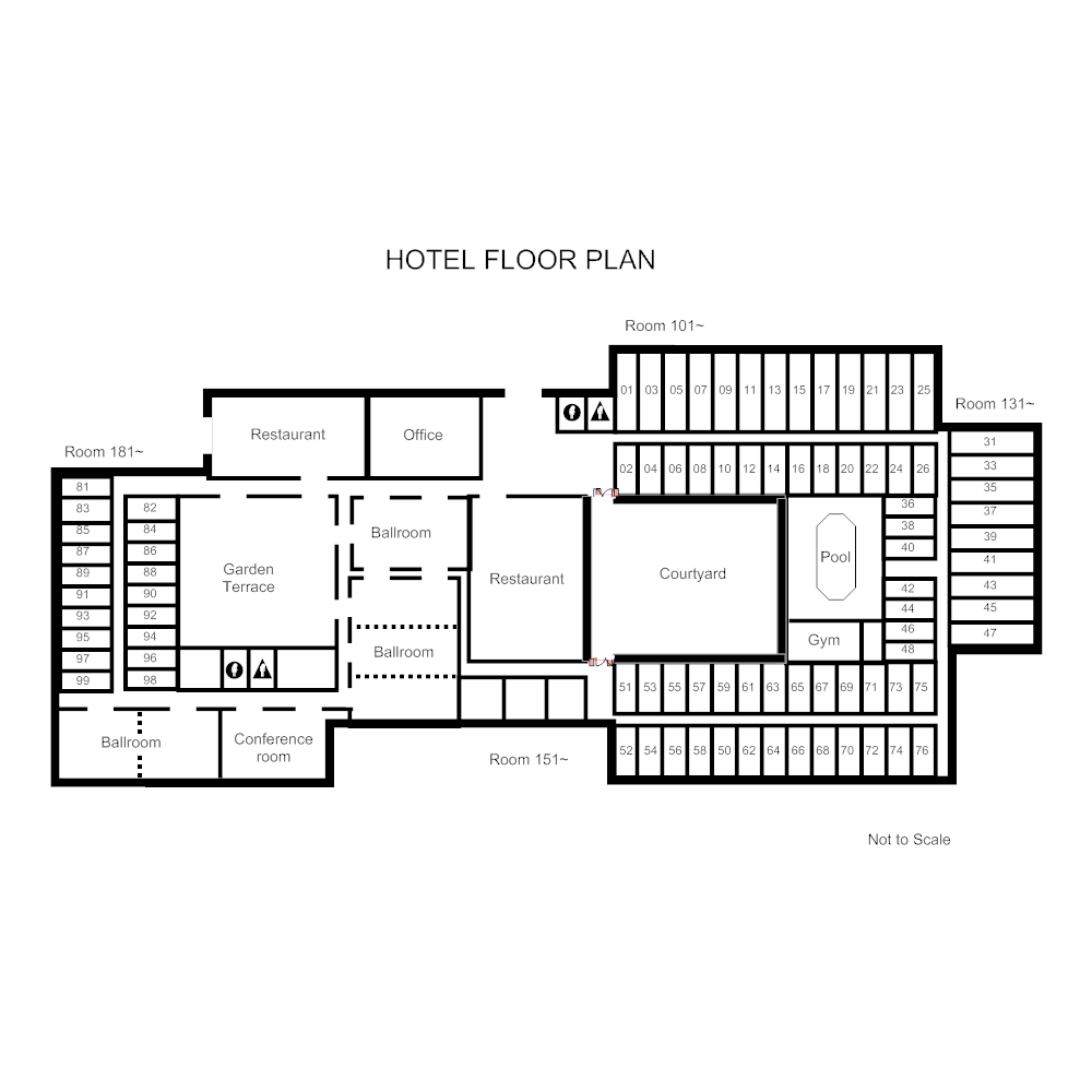 Example Image: Hotel Space Plan