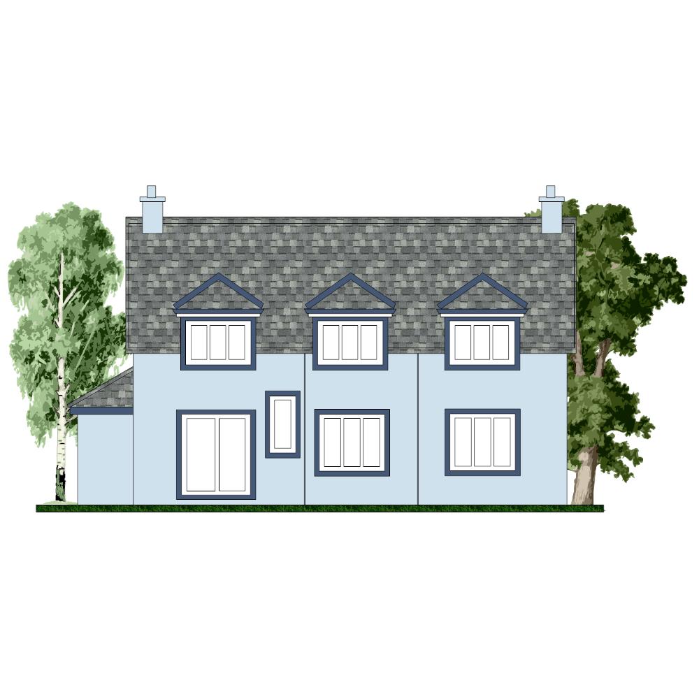 Example Image: House Elevation Design