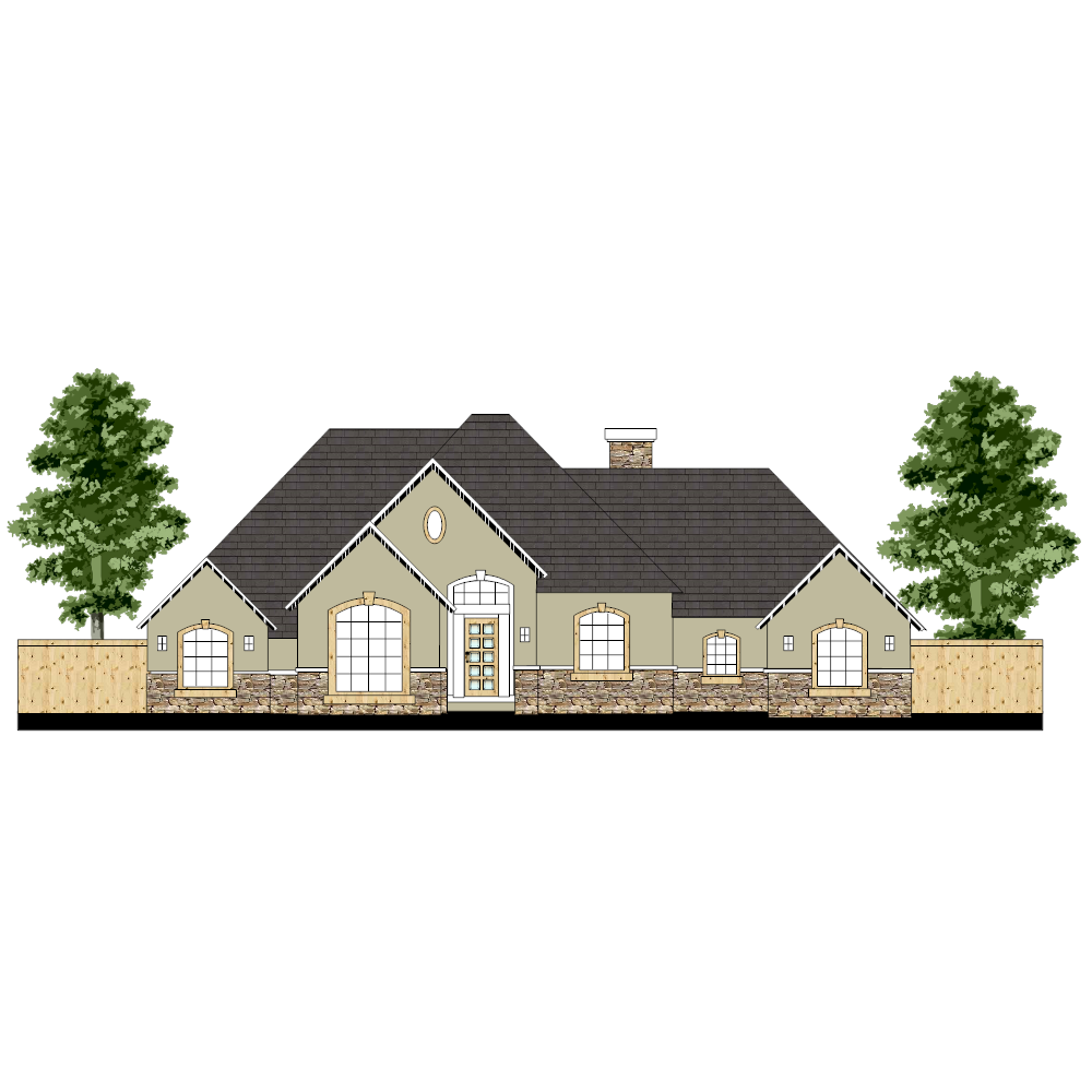 Example Image: House Elevation Plan