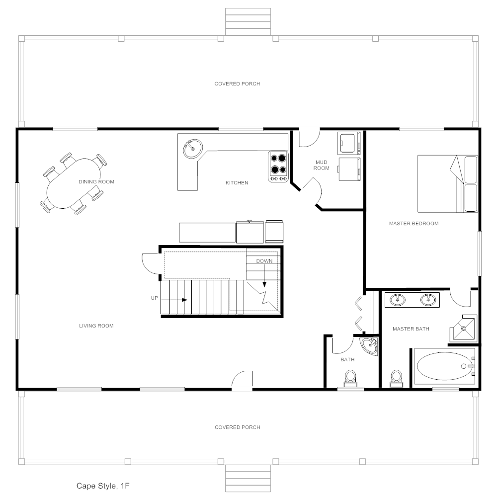 Example Image: House Plan - Cape Style