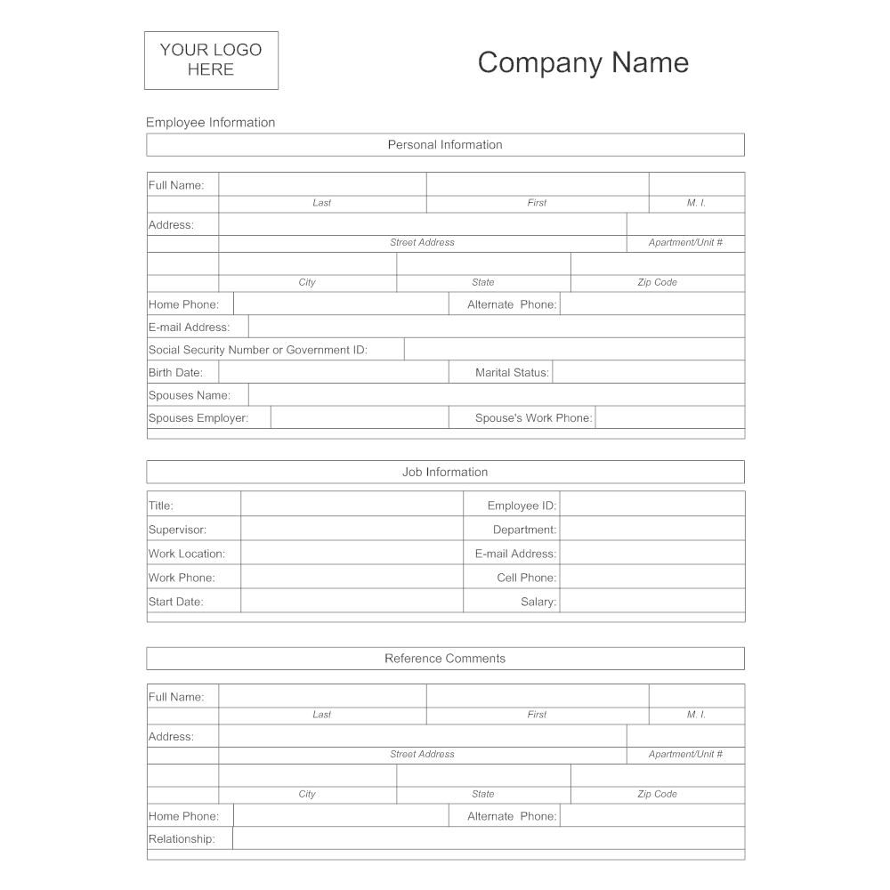 Example Image: Employee Information