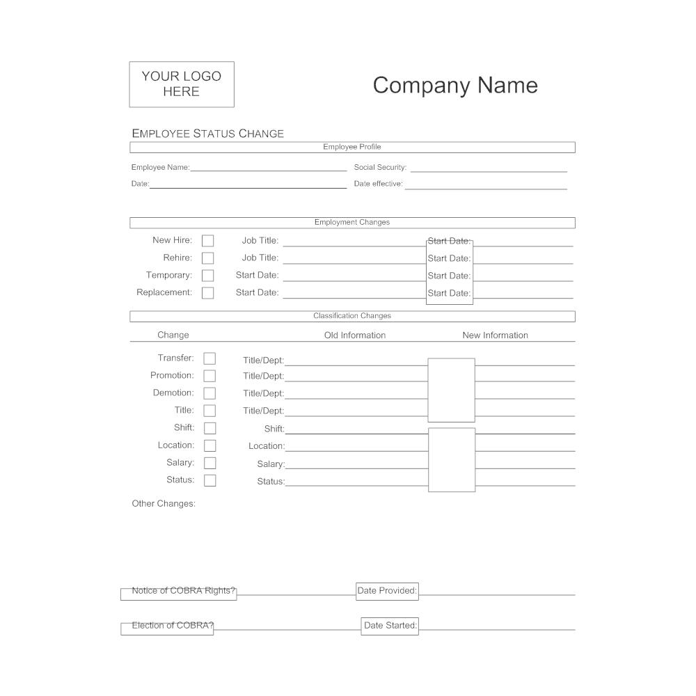 Example Image: Employee Status Change