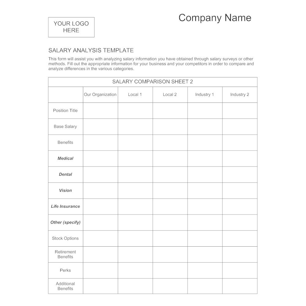 Example Image: Salary Analysis Template - 1
