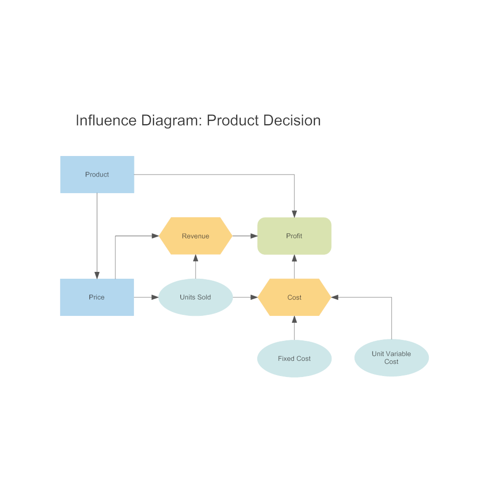 Example Image: Influence Diagram - Product Decision
