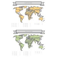 World Data Map Infographic