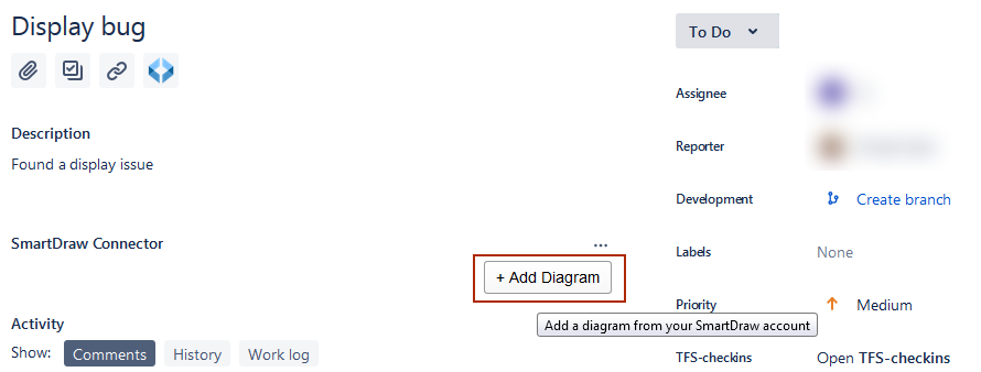 Launch SmartDraw by clicking add diagram