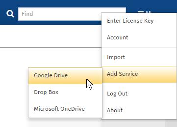 Add Dropbox service