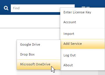 Add Dropbox servie