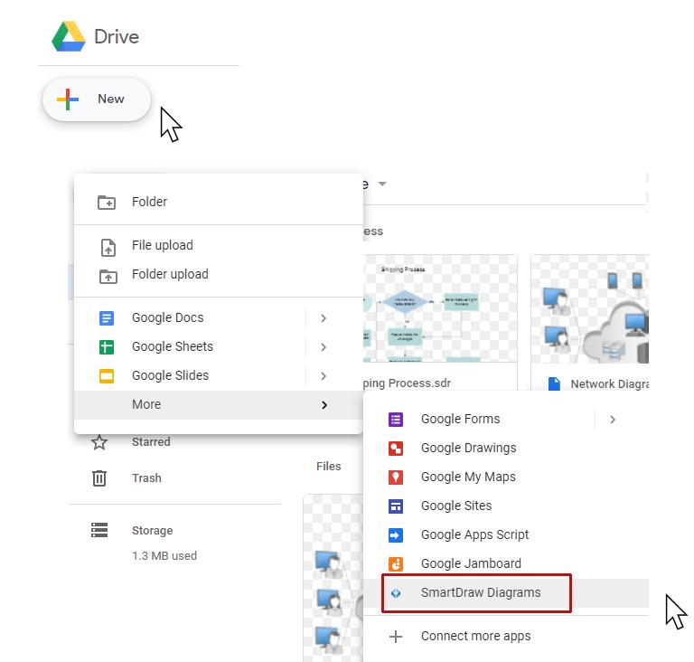 SmartDraw and Google Drive