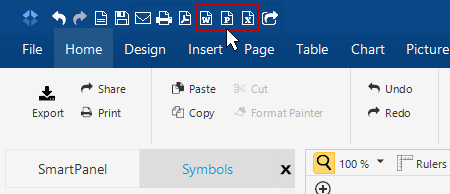 Export diagrams to Office