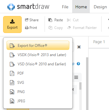Export your flowchart to PowerPoint