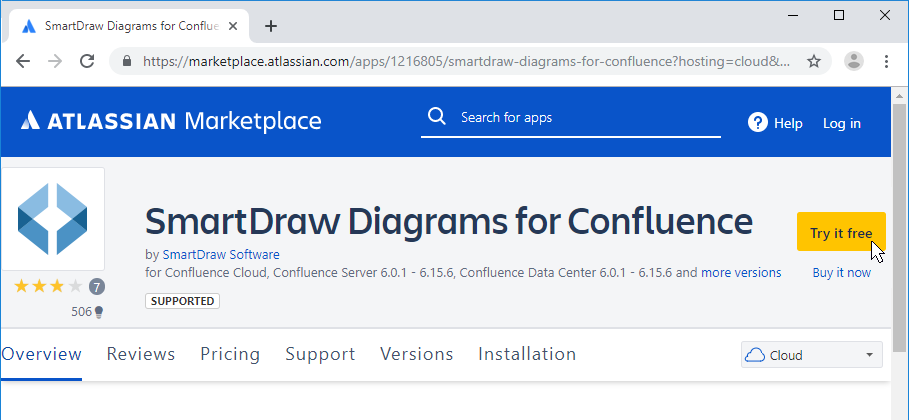 Get SmartDraw for Confluence
