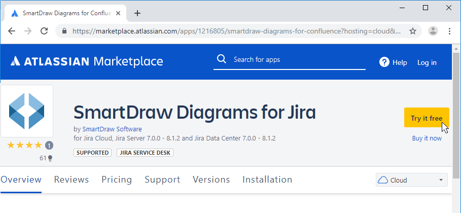 Install SmartDraw app for Jira