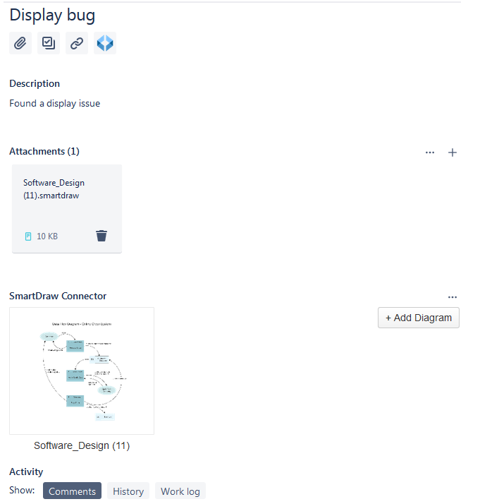 SmartDraw diagram attached to Jira issue