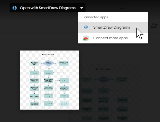 Open a diagram from Google Drive