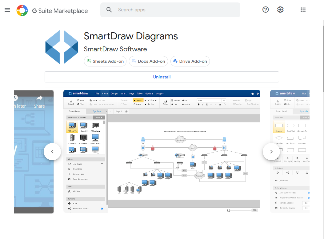 Get the SmartDraw Add-On