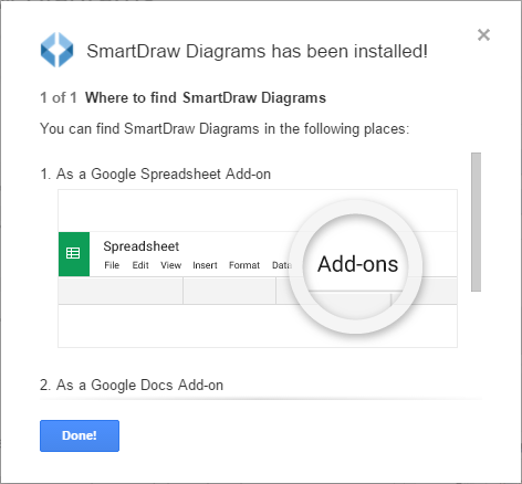 SmartDraw Add-On installed