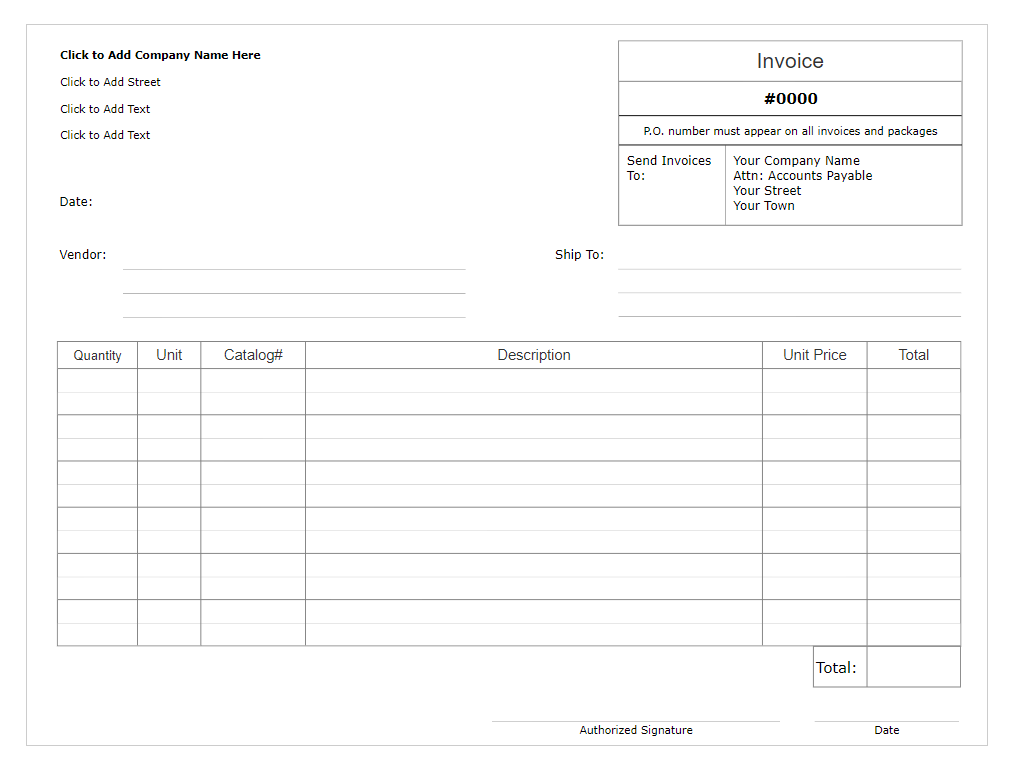 Invoice form software