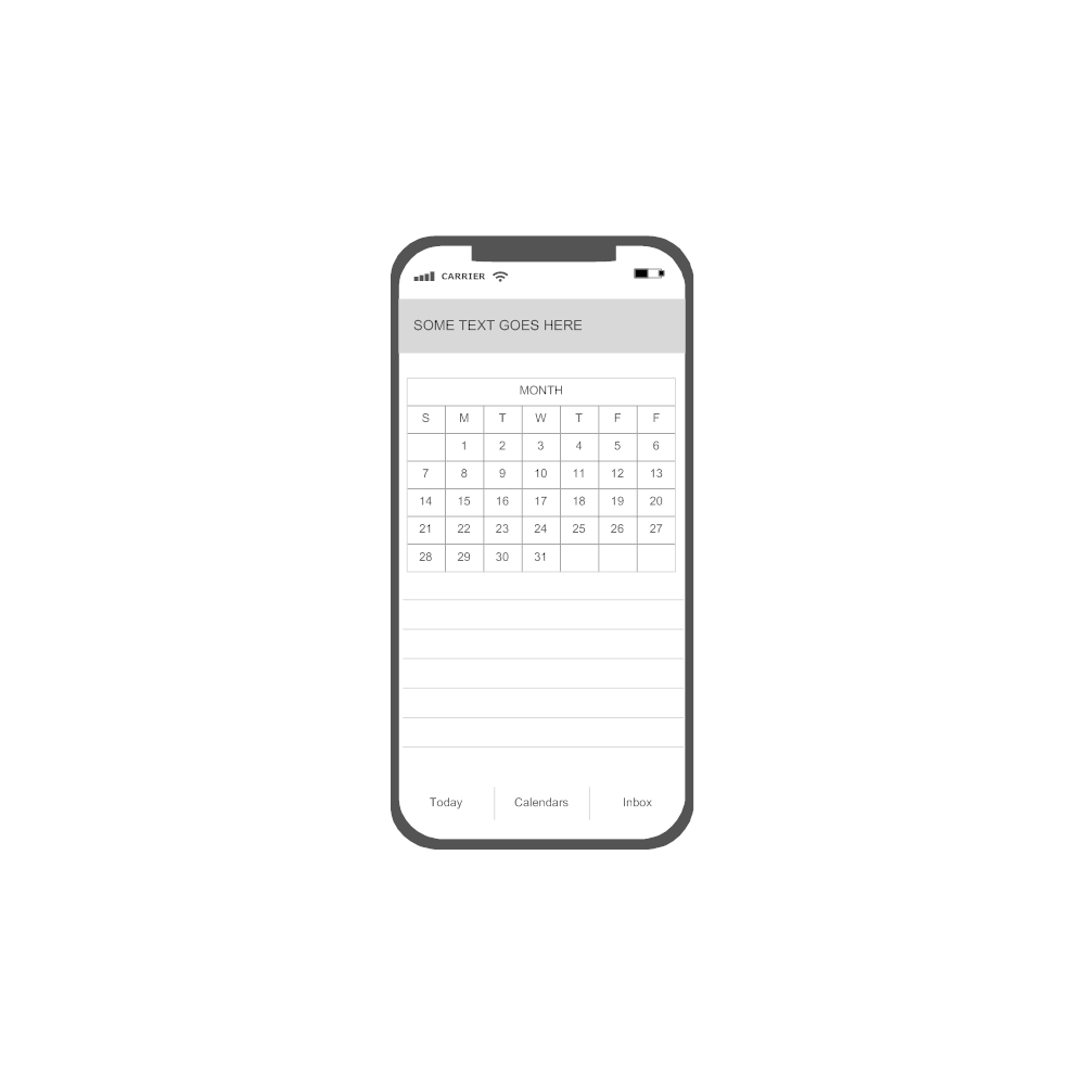 Example Image: iOS - Calendar