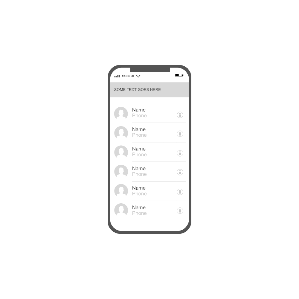 Example Image: iOS - Contacts