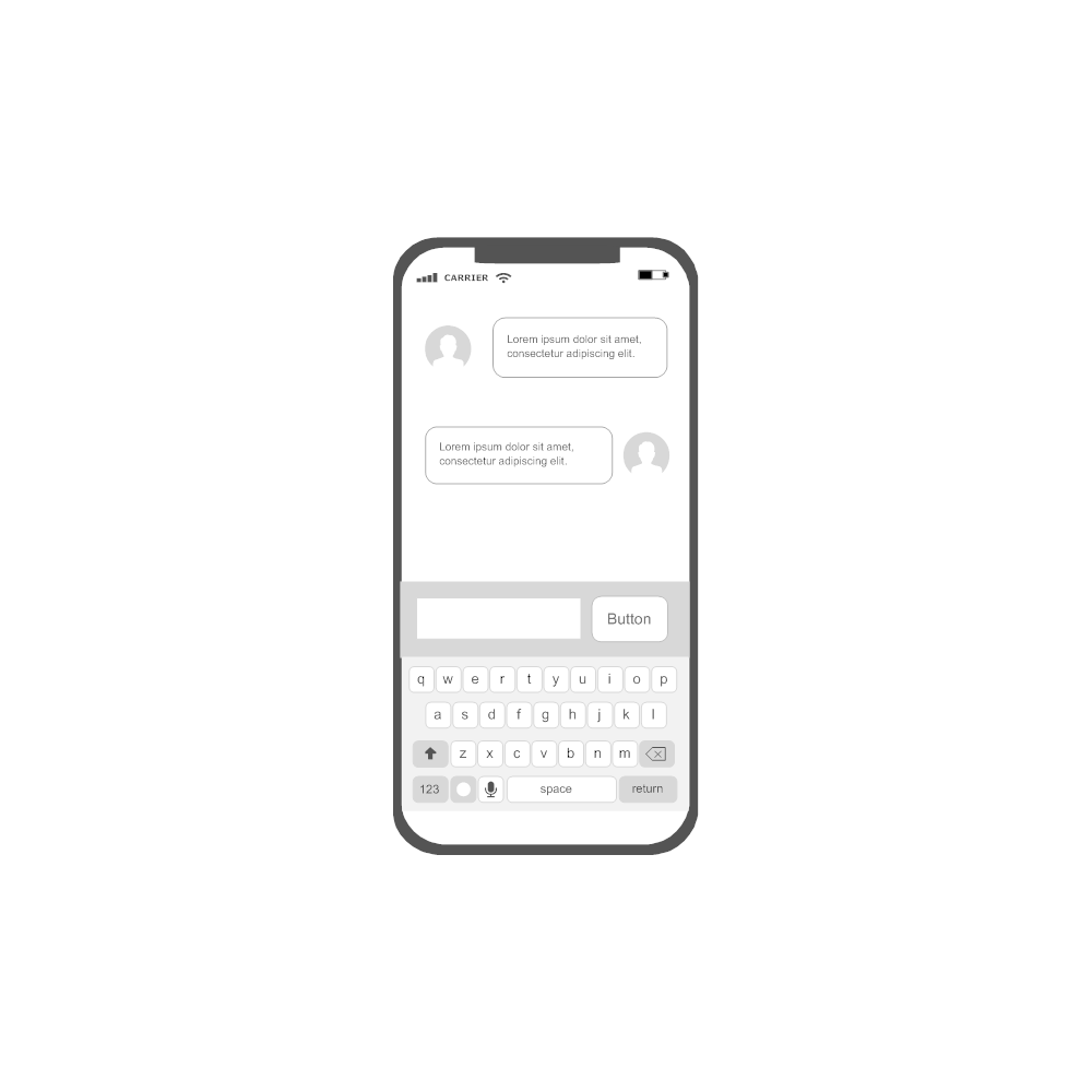 Example Image: iOS - Messaging