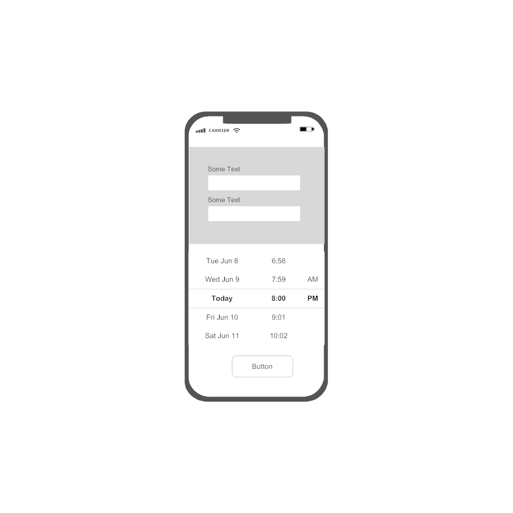 Example Image: iOS - New Entry