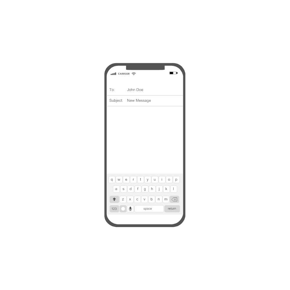 Example Image: iOS - New Message