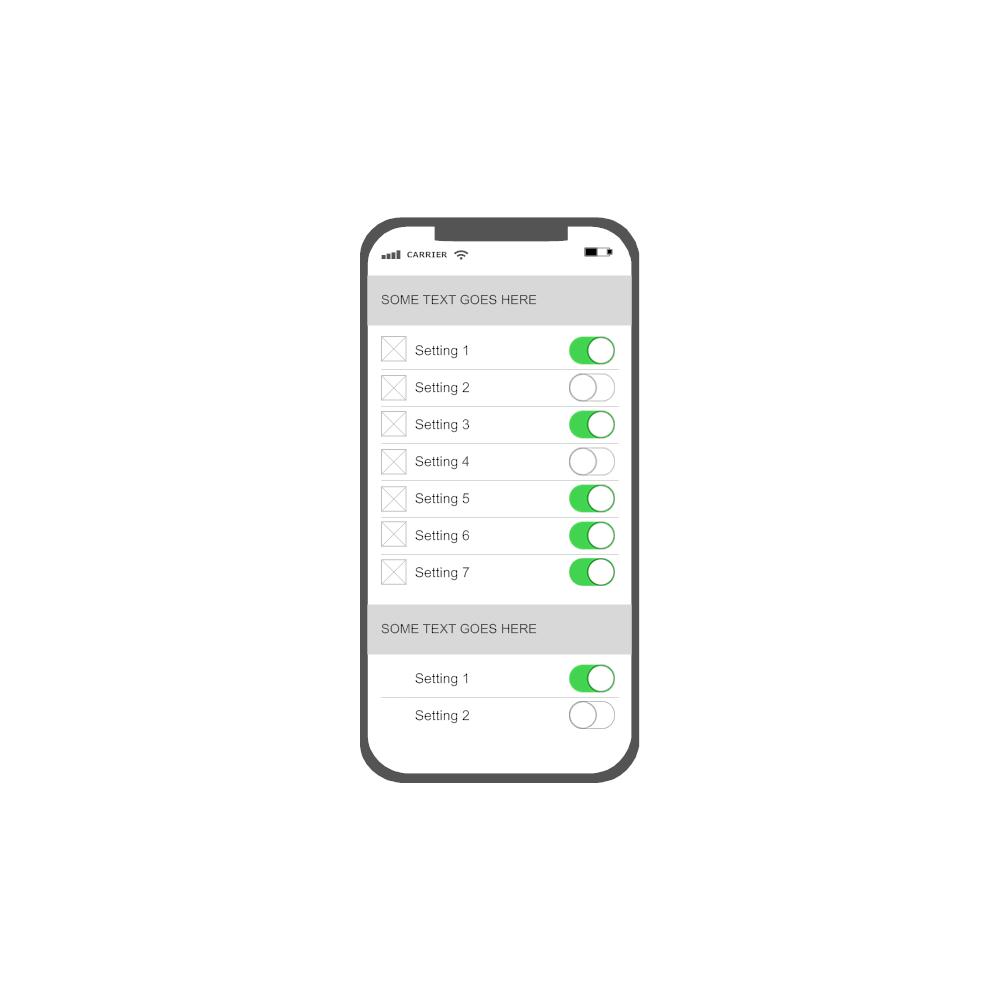 Example Image: iOS - Settings